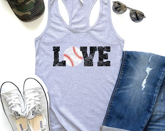 Baseball Mom Tank, Womens Baseball Tank, Baseball Tank Top, Baseball Tank Tops, Tanks Baseball, Baseball Tanktops, Love Baseball Tank, Women