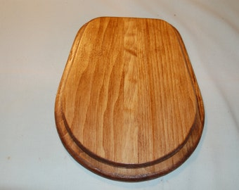Hand made wooden toilet seat cribbage board