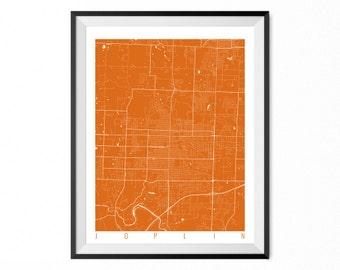 JOPLIN Map Art Print / Joplin City Poster / Joplin Wall Art / Missouri/ Gift / Missouri home decor
