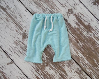 Boys Harem Shorts Made to Order Seafoam boys shorts