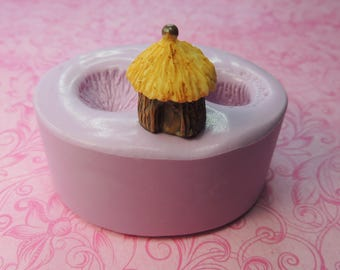 Fairy House Mold, Fairy, Terrarium, Tiny Hut Mold, Polymer Clay Mold, Resin Mold, Fondant, Chocolate Molds