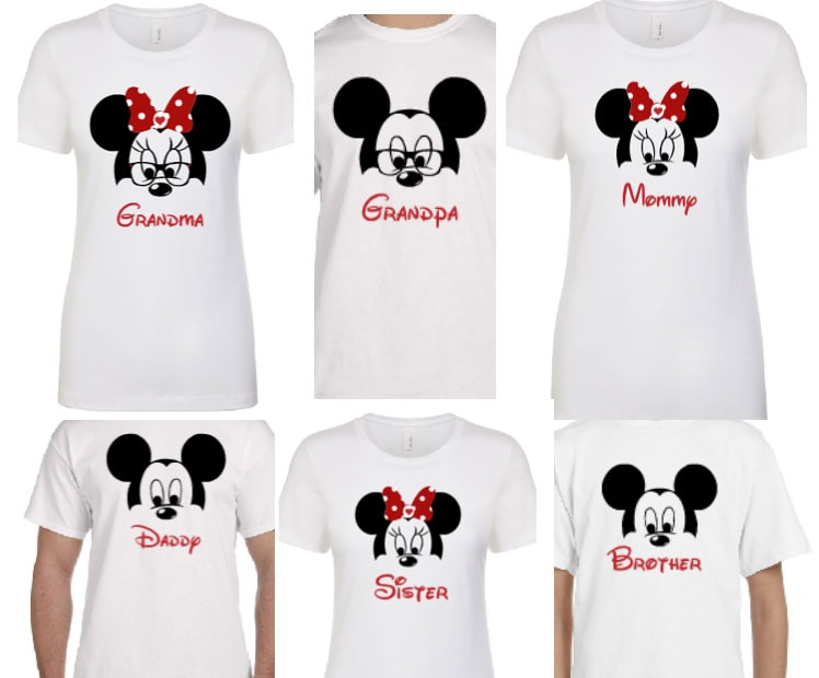 Daddy and Mommy Mickey and Minnie Shirts Set of 2 - Disney Trip Shirts JADK2y