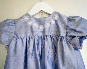 Lavender Silk Dress 12-18m