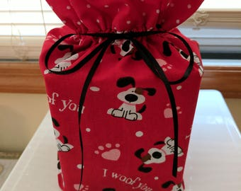 Tissue box cover  ....  I Woof You