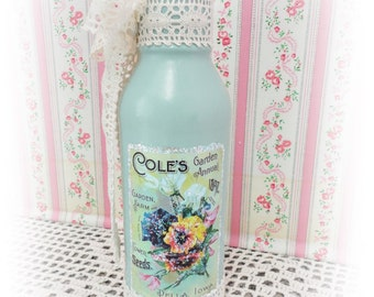 Garden Annual Cole's Graphic Designer Bottle, Hand Painted and Embellished, Collectible, Display, Gift, ECS