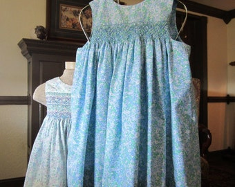 Girls Sundress, Pima Cotton, size 3 to 4 years, #707
