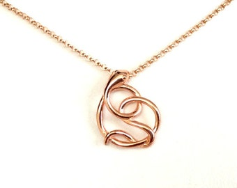 Infinity Snake - Rose Gold Filled Snake Charm Jewelry