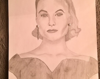 Grace Kelly Classic Drawing