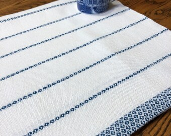 Hand Woven Kitchen Towel, Gourmet Chef's Kitchen Towel, GOTS Certified Organic Yarn, Tea Towel, Dish Towel, Artisan Hand Woven, Hostess Gift