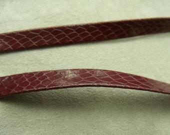 Ribbon - 0.5 cm - Burgundy leatherette