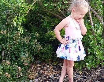 Girls paper waist skirt