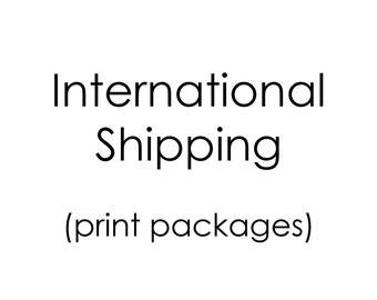 International shipping for printed card packages