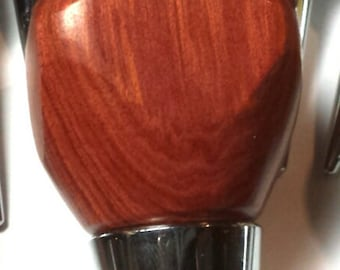 Custom Hand Carved Redheart Wood Bottle Stopper