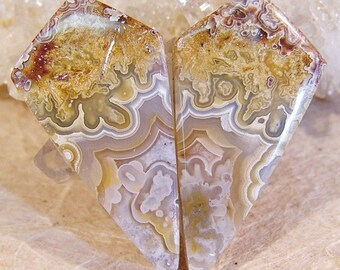 Crazy Lace Agates...16x32...Matching Pair