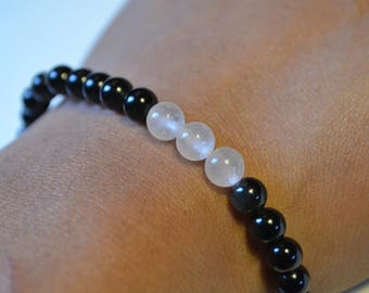 Black Onyx and Rose Quartz