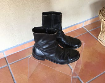 Vintage 80s Leather Moto Boot
