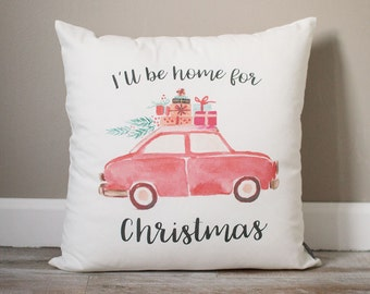 I'll Be Home For Christmas Pillow | Christmas Pillow | Holiday Pillow | Christmas Gift | Rustic Decor | Holiday Decor | Christmas Decor