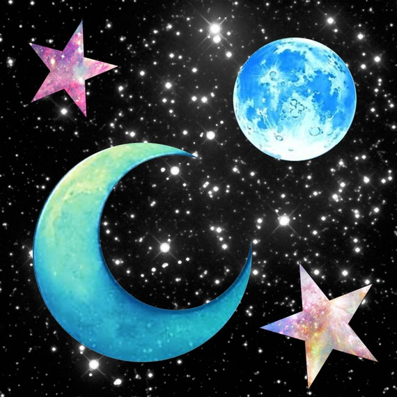 Moon And Stars Clipart Moon Png Stars Png Galaxy Clipart