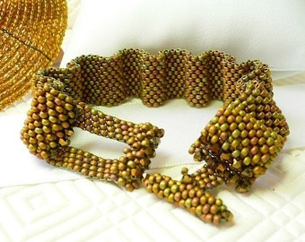 Parabola Waves  beaded Peyote stitch Tutorial for bracelet: Instant Downloadable Pattern PDF File