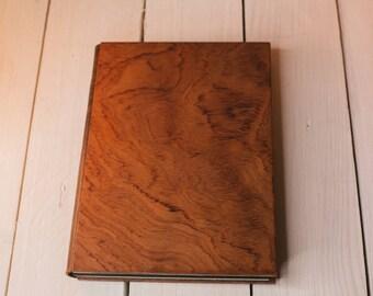 Merbau veneer notebook. Wooden sketchbook