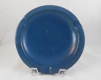 Mid Century Upsala Ekeby Sweden 219 Blue Pottery Ashtray