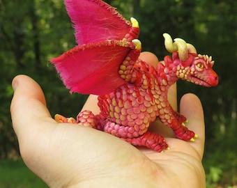 Miniature Pet Dragon #MHR1 - Curious Pink
