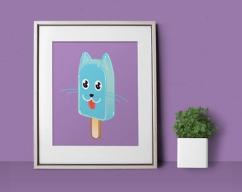 Kitty Pop Large 11x14 Art Print by Odds and Aliens