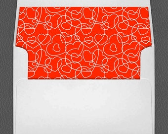 Valentine A7 Envelope Liner, Valentine's Day or any occasion Digital Printable Downloadable for 5x7 card envelopes