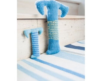 Knitted Letter T Knitting Pattern (803503)
