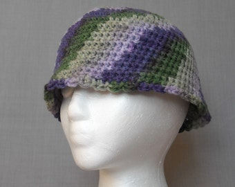 crocheted multi-colored bucket hat for adults