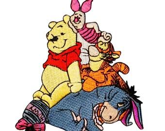 Winnie the Pooh & Friends Patch Tigger, Piglet, Eeyore Disney Iron-On Applique