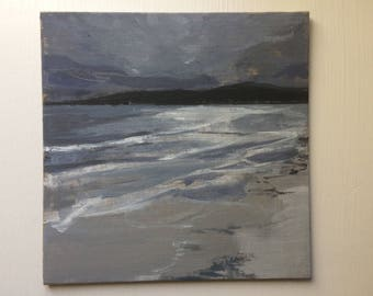 Beautiful Beach - Little Painting - Fiona Charis Carswell 'Straight From The Studio' - RiverRunning