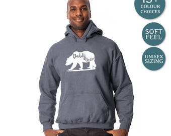 Daddy Bear Hoody. Mens Gift. Fathers Day Gift. Mens Hoodie. Gifts For Men. Daddy Bear Jacket. Mens Jacket. Daddy Bear Sweater. Gift For Dad