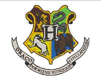 Wizard School Crest Logo