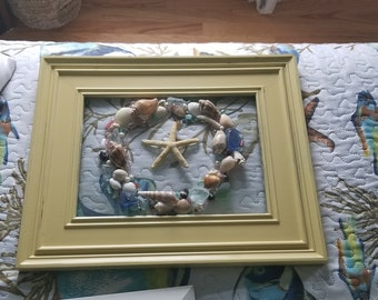 Seaglass and Shell wreath