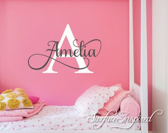 Nursery Wall Decal Personalized Names Wall Decals For Kids Vinyl Wall Decal Stickers for boys and girls rooms. Choose Any Custom Name!