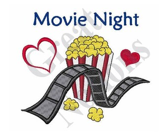 Movie Night - Machine Embroidery Design