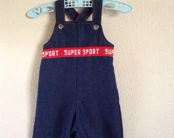 Vintage Health-tex Super Sport Overalls (3 months)