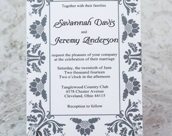 Simply Elegant Wedding Invitation