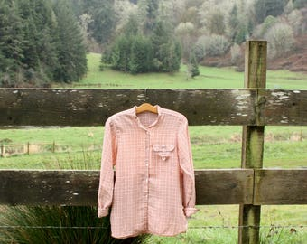 Soft light pink flannel (sz: L)