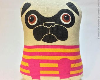 Pug in Stripes - Small Pug-Guise Plush