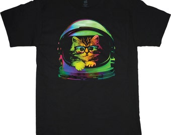 Men's T-shirt space cat t-shirt outer space