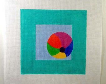 Beach Ball Needlepoint  7 x7  Square - Jody Designs   SB5