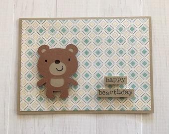 Happy Bearthday Bear Card