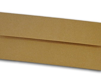 Brown Bag KRAFT  No 10 SQUARE  flap Envelopes 50 pack