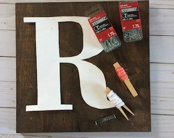Initial String Art Kit, Monogram String Art Kit, String Art Kit, DIY KIt