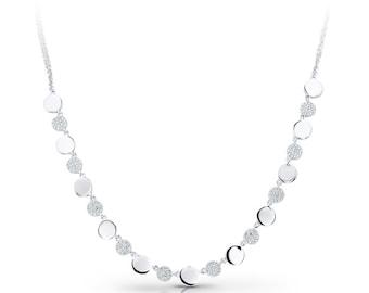 Ladies Diamond Necklace / 14k White Gold Necklace / Diamond Necklace / White Gold Bracelet