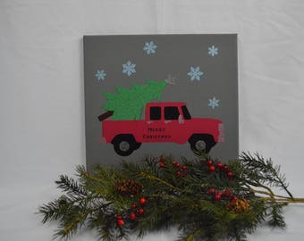 Bringing  Home the Christmas Tree - Custom Canvas