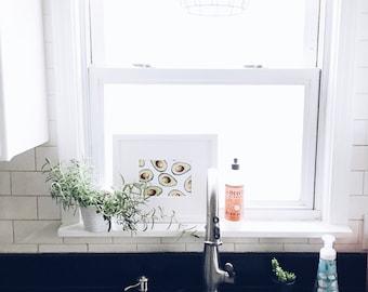 kitchen wall decor, avocado print, kitchen avocado decor, printable avocado, kitchen decor, home decor, avocado, foodie gift, food puns