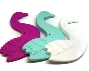 Swan BPA free silicone teething ring
